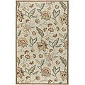 Hand-hooked Bliss Beige/Green Indoor/Outdoor Floral Rug (2' x 3')