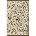 Hand-hooked Bliss Beige/Green Indoor/Outdoor Floral Rug (9' x 12')