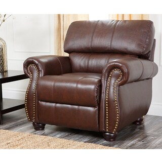Abbyson Living Ashley Premium Top-grain Leather Armchair