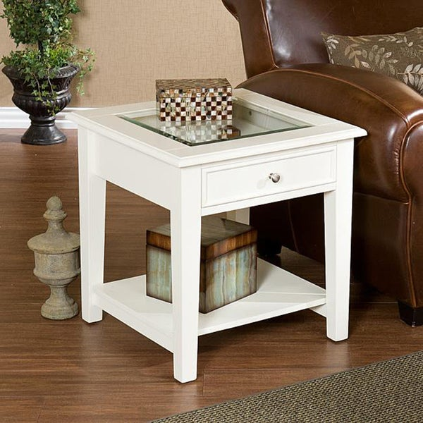Upton Home Quincy White End Display Table 13371026 Shopping Great Deals On