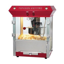 Popcorn Time 6093 Red 6-oz Antique Popcorn Machine