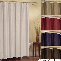 Chadwell Striped Polyester Fabric Shower Curtain (70' x 72')