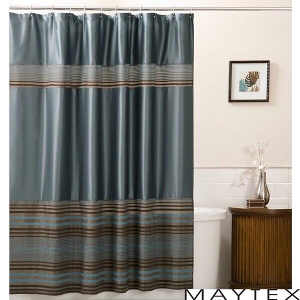 Maytex Mark Fabric Shower Curtain