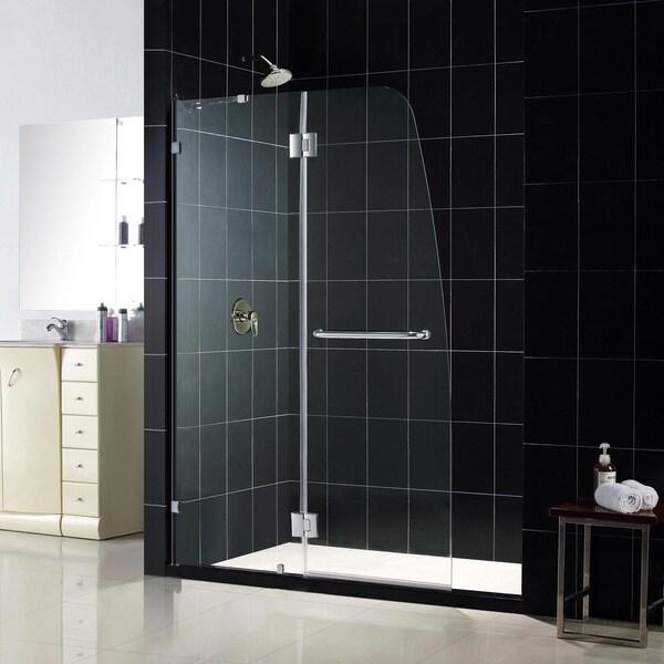 DreamLine AquaLux 46x72-inch Frameless Hinged Shower Door