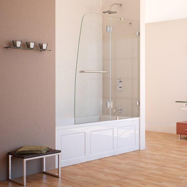 DreamLine AquaLux 48x58-inch Frameless Hinged Tub Door