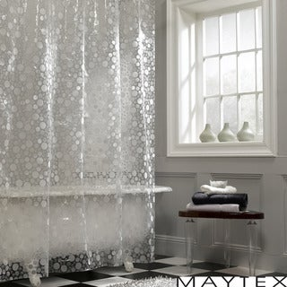 Maytex Circles Vinyl Shower Curtain