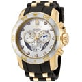 Invicta Men's 'Pro Diver' Rubber & 18k Goldplated Chronograph Watch