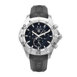 Tag Heuer Men's CAF101E.FT8011 Aquaracer Black Chronograph Dial Watch