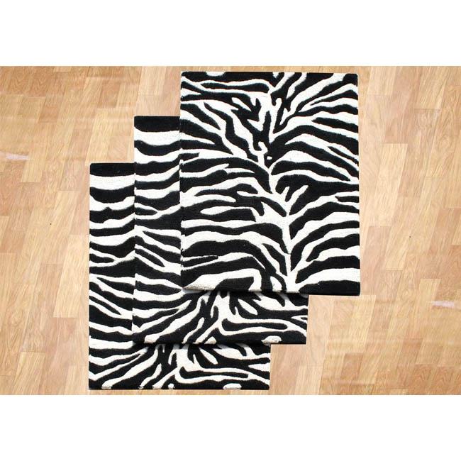 Alliyah Rugs Alliyah Handmade Zebra Stripes New Zealand Blend Wool Rug (2' x 3') at Sears.com