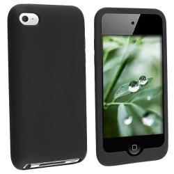 Black Silicone Case for Apple iPod Touch 4