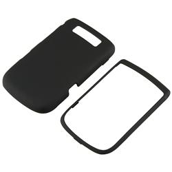 INSTEN Black Rubber Phone Case Cover/ Screen Protector for BlackBerry Torch 9800