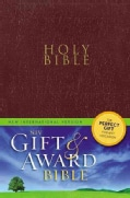 Holy Bible: New International Version, Burgundy, Leather-Look, Gift & Award Bible (Paperback)