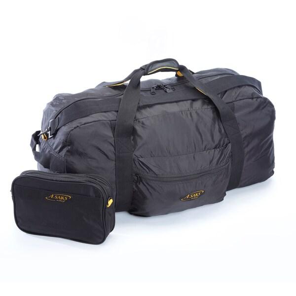 A.Saks 30-inch Lightweight Parachute Nylon Duffel Bag