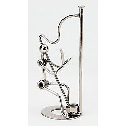 Harpist Metal Figurine