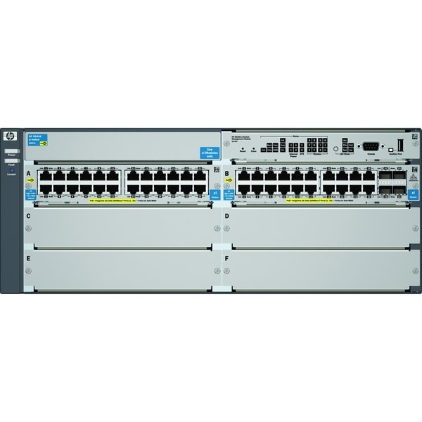 HP E5406-44G-PoE+/4G-SFP Switch Chassis