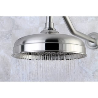 Victorian Satin Nickel 8-inch Rainfall Shower Head