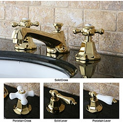 Metropolitan Polished Brass Widespread Bathroom Faucet