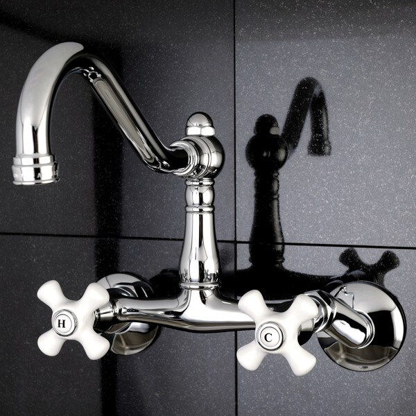 Adjustable Chrome Wallmount Kitchen Faucet