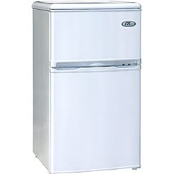 White 3.2-cubic-foot Energy Star Double Door Refrigerator