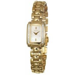 Seiko Women's 'Diamond' Goldplated Steel Quartz Watch