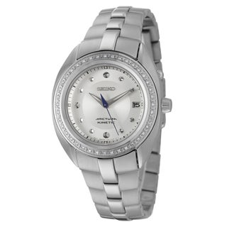 Seiko Women's 'Arctura' Stainless Steel Diamond Accent Watch