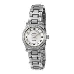 Seiko Women's 'Premier' Stainless Steel Quartz Diamond Watch