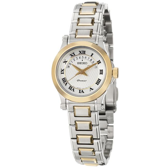 Seiko Women's 'Premier' Goldplated Steel Quartz Watch