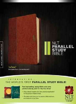 NLT Parallel Study Bible: New Living Translation, Brown / Tan TuTone, LeatherLike (Paperback)