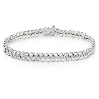Miadora Sterling Silver 1ct TDW Diamond Bracelet (H-I, I3)
