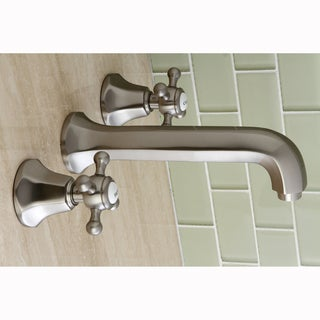 Metropolitan Satin Nickel Wall Mount Vessel Sink Bathroom Faucet