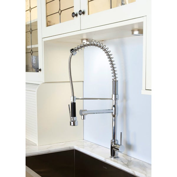 Cusinxel 27-inch Spiral Pulldown Chrome Kitchen Faucet