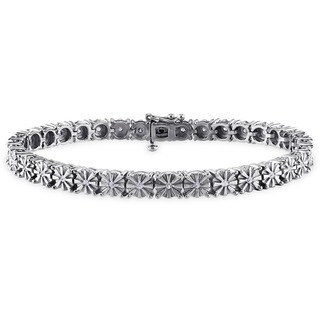 M by Miadora Sterling Silver 1/2ct TDW Diamond Tennis Bracelet (H-I, I3)