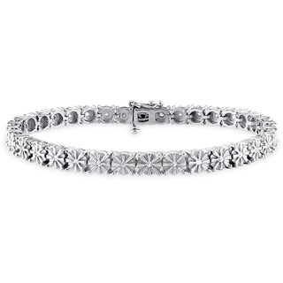 Haylee Jewels Sterling Silver 1/2ct TDW Diamond Tennis Bracelet (H-I, I3)
