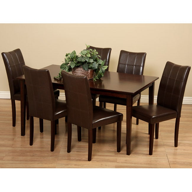 Eveleen Brown 7-piece Dining Table and Chair Set