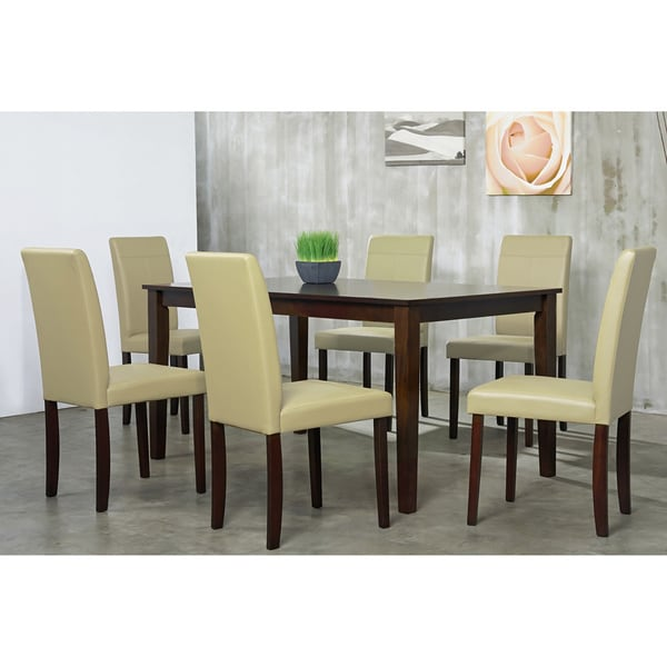 Warehouse of Tiffany 7-piece Cream Dining Furniture Set