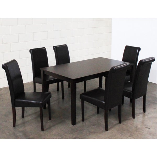Warehouse of Tiffany 7-piece Black Dining Furniture Set