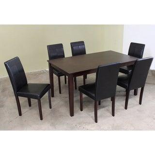 Warehouse of Tiffany 7-piece Black Dining Furniture Set