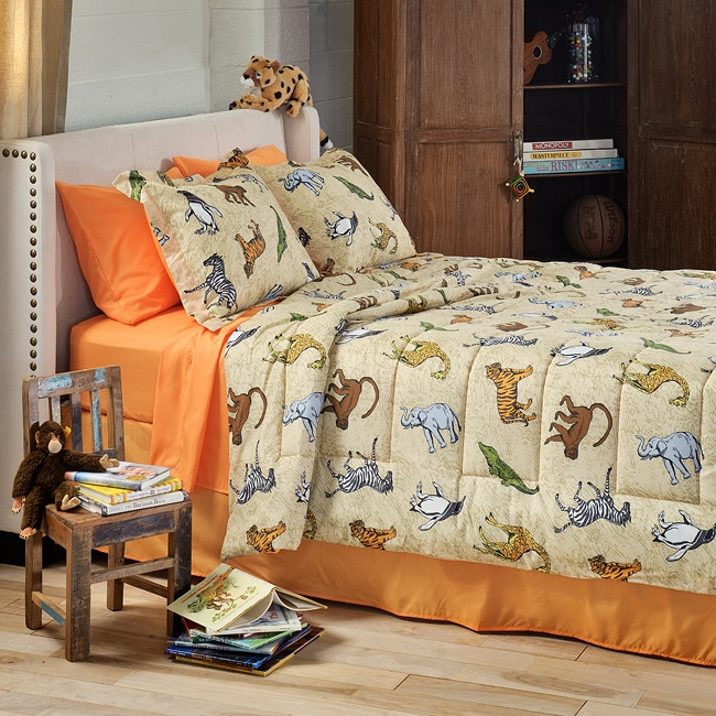 Zoolicious 6-piece Twin XL-size Bed in a Bag with Sheet Set