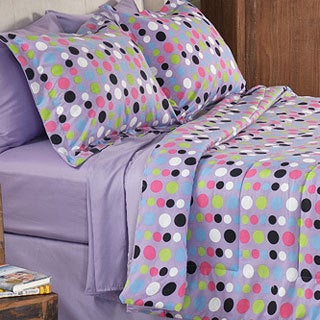 Dot 8-piece Full-size Bed in a Bag with Sheet Set