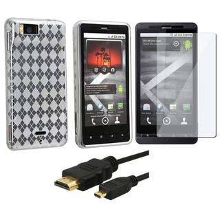 3-piece Case/ Screen Protector/ 6-foot HDMI for Motorola MB810 Droid X