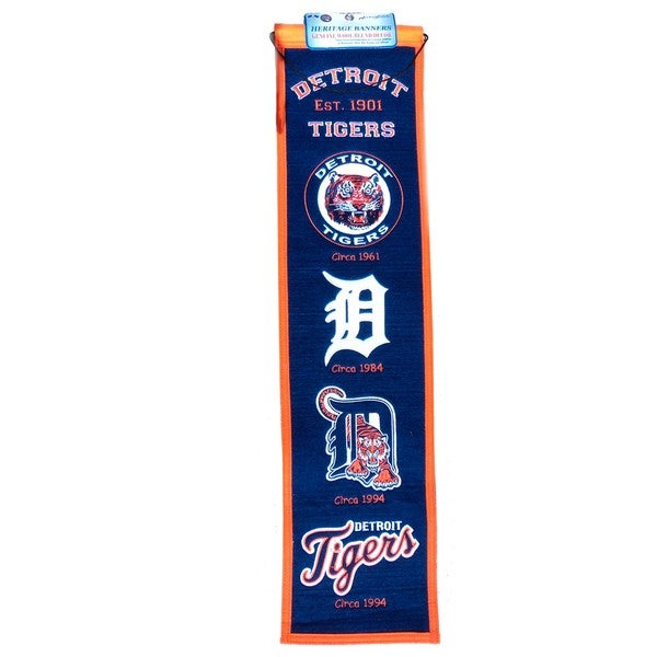 Detroit Tigers Wool Heritage Banner