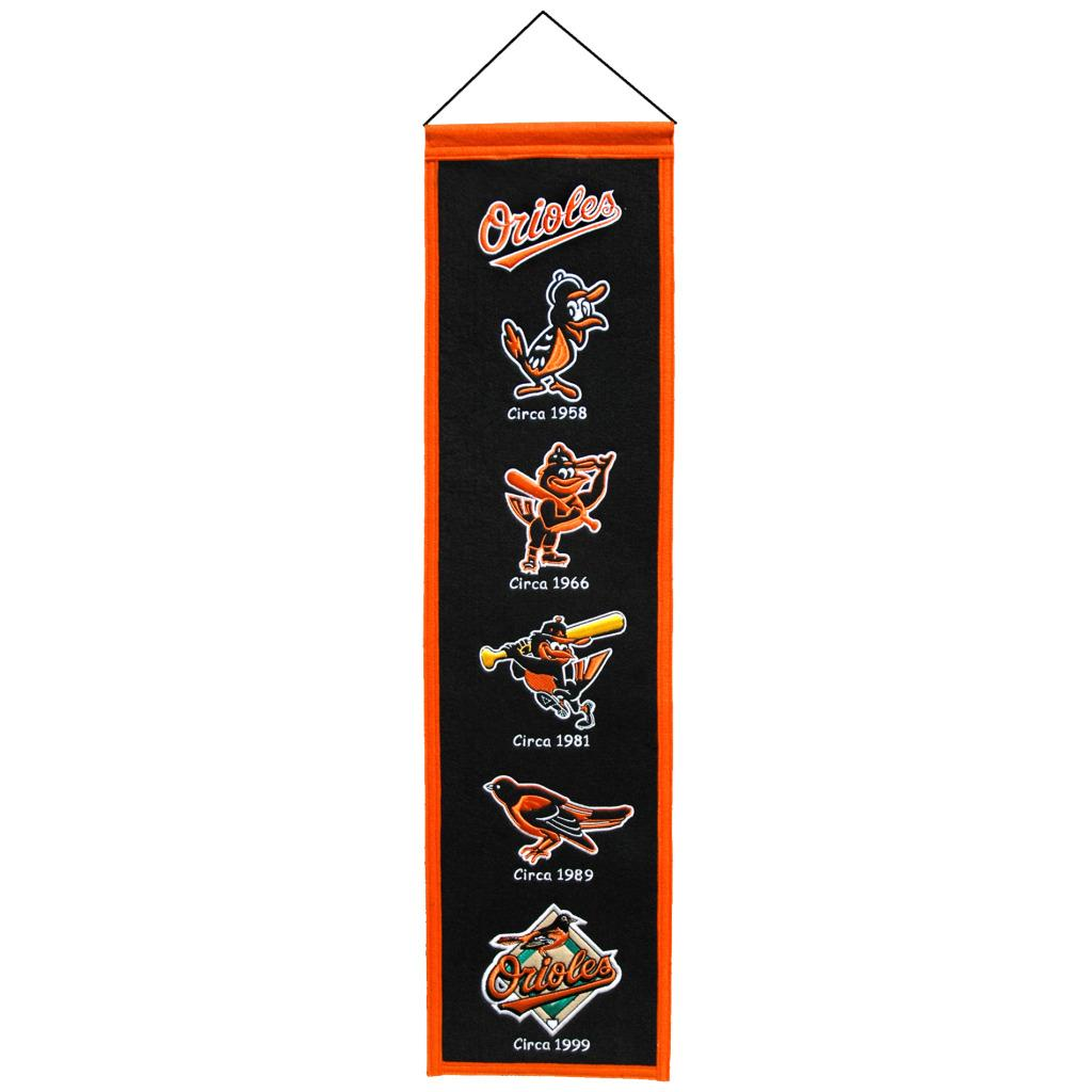 Baltimore Orioles Wool Heritage Banner