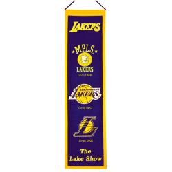 Los Angeles Lakers Wool Heritage Banner