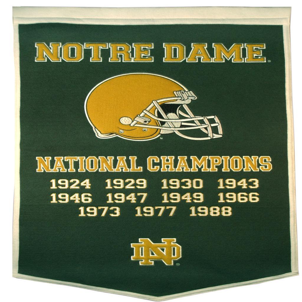 Notre Dame Fighting Irish NCAA Dynasty Banner