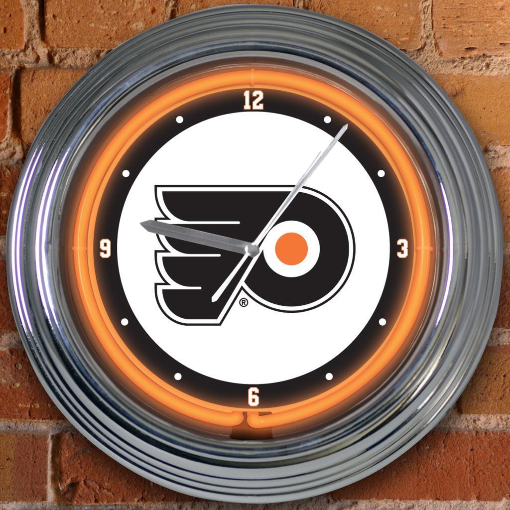 Philadelphia Flyers 15-inch Neon Clock