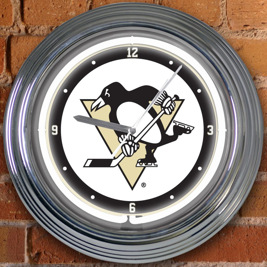 Pittsburgh Penguins 15-inch Neon Clock