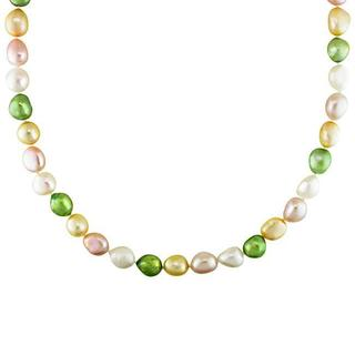 M by Miadora Multi-colored Cultured Freshwater Pearl 32-inch Endless Necklace (9-10 mm) wit