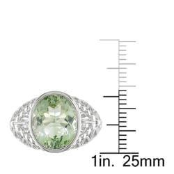 Miadora New York Gems Sterling Silver Amethyst Ring