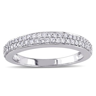 Miadora 10k White Gold 1/4ct TDW Diamond Ring (G-H, I2-I3)