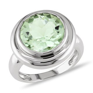 Miadora New York Gems Sterling Silver Green Amethyst Fashion Ring